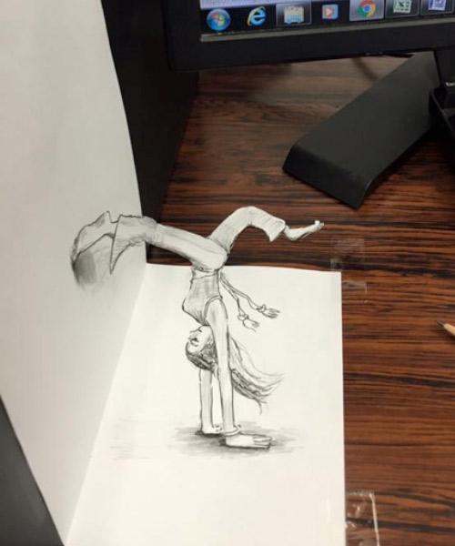 トリックアートの授業
